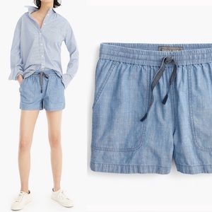 J. Crew Point Sur Seaside Chambray Shorts
